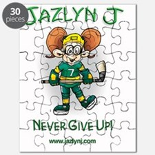 Jazlyn J Never Give up and website Puzzle