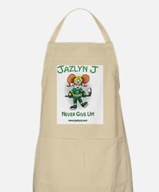 Jazlyn J Never Give up and website Apron
