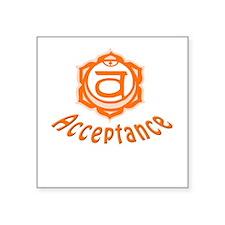 """Yoga Acceptance Square Sticker 3"""" x 3"""""""