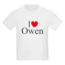 """""""I Love (Heart) Owen"""" T-Shirt"""