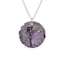 purple passion fairy by Moll Necklace Circle Charm