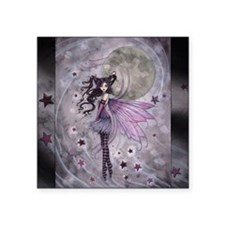"purple passion fairy by Mol Square Sticker 3"" x 3"""