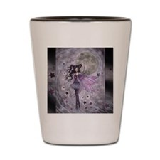 purple passion fairy by Molly Harrison Shot Glass
