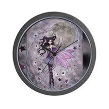 purple passion fairy by Molly Harrison Wall Clock