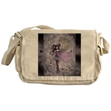 purple passion fairy by Molly Harris Messenger Bag