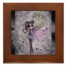 purple passion fairy by Molly Harrison Framed Tile