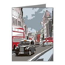 Taxi on London street Note Cards (Pk of 20)