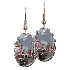 Taxi on London street Earring