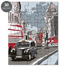 Taxi on London street Puzzle