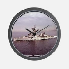 uss techandler framed panel print Wall Clock