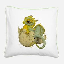 Obscenely Cute Dragon Square Canvas Pillow