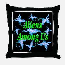 Aliens Among Us Throw Pillow