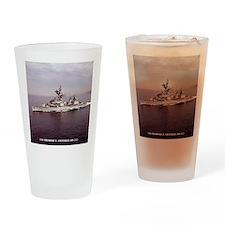 uss techandler calendar Drinking Glass