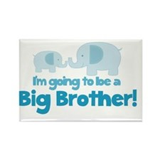 Im going to be a Big Brother Blue Rectangle Magnet
