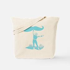mustache lifter blu Tote Bag