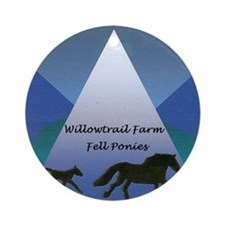 Willowtrail Farm Fell Ponies Round Ornament