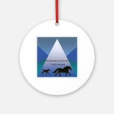 Willowtrail Farm Fell Ponies Round Ornament