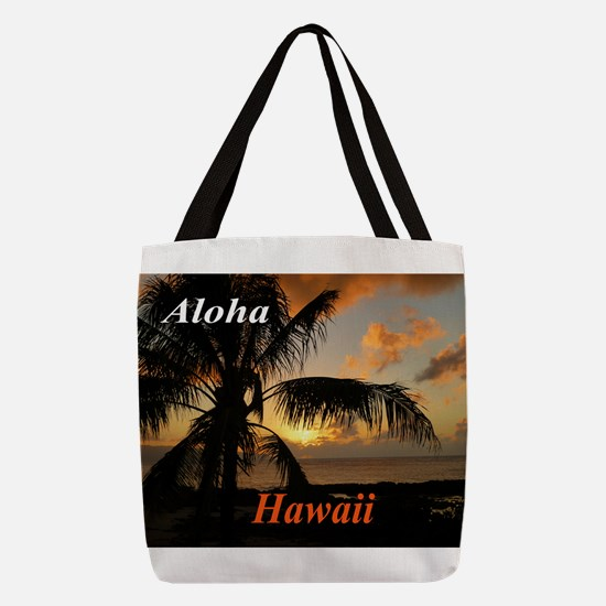 Sunset North Shore Oahu Polyester Tote Bag