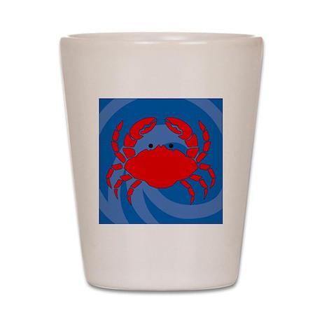 Crab Shower Curtain Shot Glass