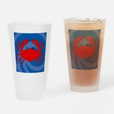 Crab Shower Curtain Drinking Glass