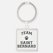 Team Saint Bernard Square Keychain