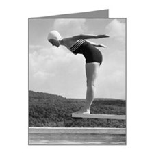 Woman preparing to dive into Note Cards (Pk of 20)