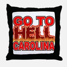 Go To Hell Carolina Throw Pillow