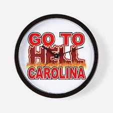 Go To Hell Carolina Wall Clock