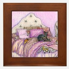 Sighthounds slumber party Framed Tile