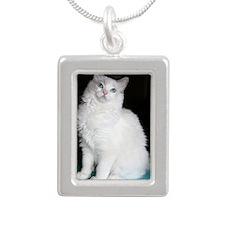 laci Silver Portrait Necklace