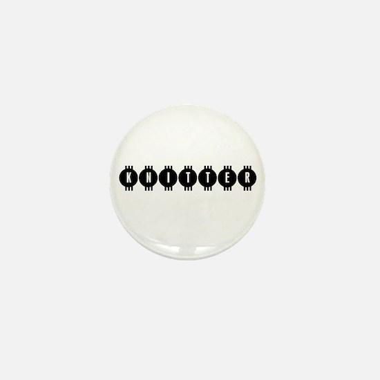 Knitter - Vintage Retro Mini Button