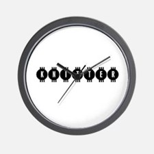 Knitter - Vintage Retro Wall Clock