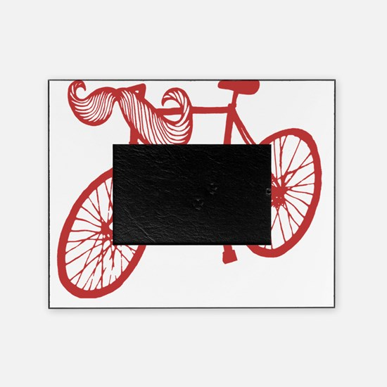 mustache Bike red Picture Frame