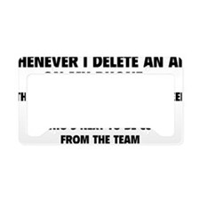 phoneAppTeam1A License Plate Holder