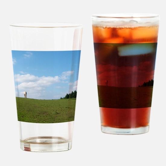 Golden horizon Drinking Glass