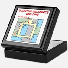 Quantum Mechanics Building Keepsake Box