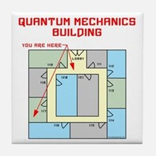Quantum Mechanics Building Tile Coaster