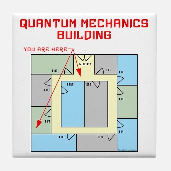 Quantum Mechanics Building Tile Coaster