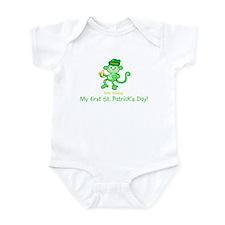 1st St. Pat's Monkey Infant Bodysuit