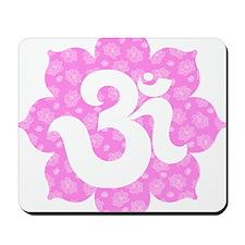 om baby pink lotus Mousepad