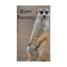 meerkat happy birthday Decal