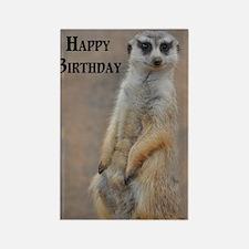 meerkat happy birthday Rectangle Magnet