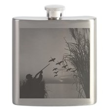 Man duck-hunting Flask