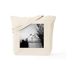 Man duck-hunting Tote Bag