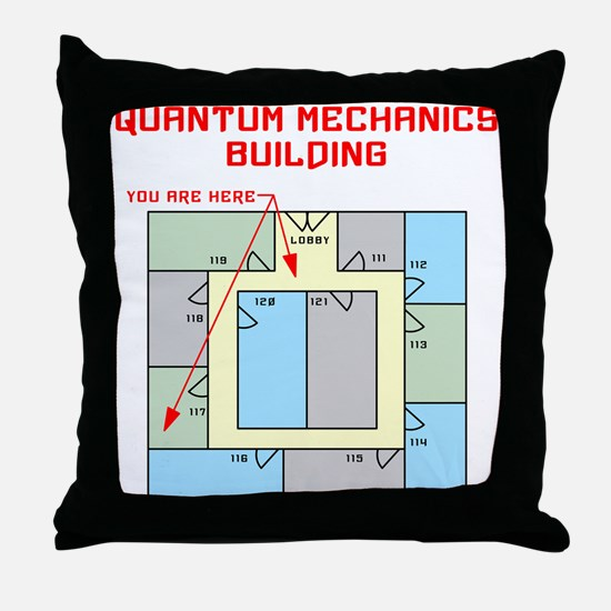 Quantum Mechanics Building Throw Pillow