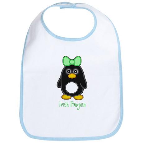Irish Penguin Girl Bib