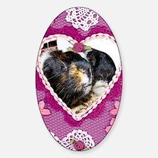 Valentine Piggies Sticker (Oval)