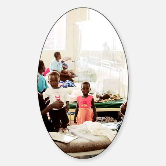 Children's hospital ward, Uganda Sticker (Oval)