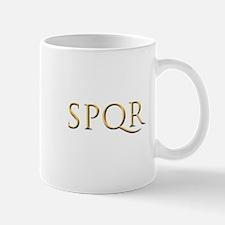 Gold Latin SPQR Mugs