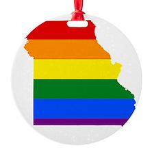 Gay Pride Flag Missouri Ornament